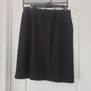 3/$25 Vntg Dress Barn midi black skirt sz 18w